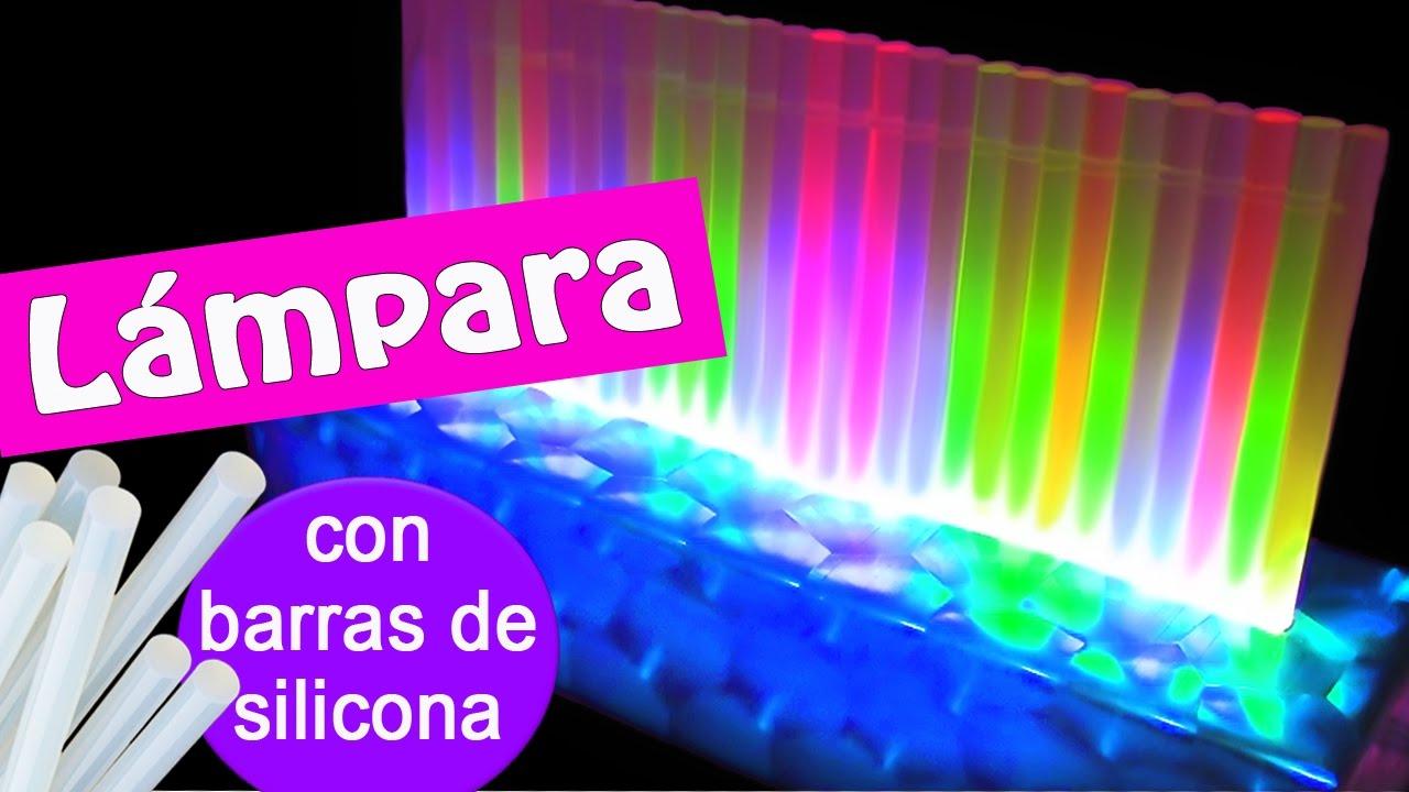 Manualidades lampara de leds con barras de silicona - Lamparas de techo leds ...