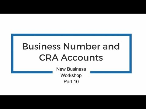 Business Number And CRA Accounts