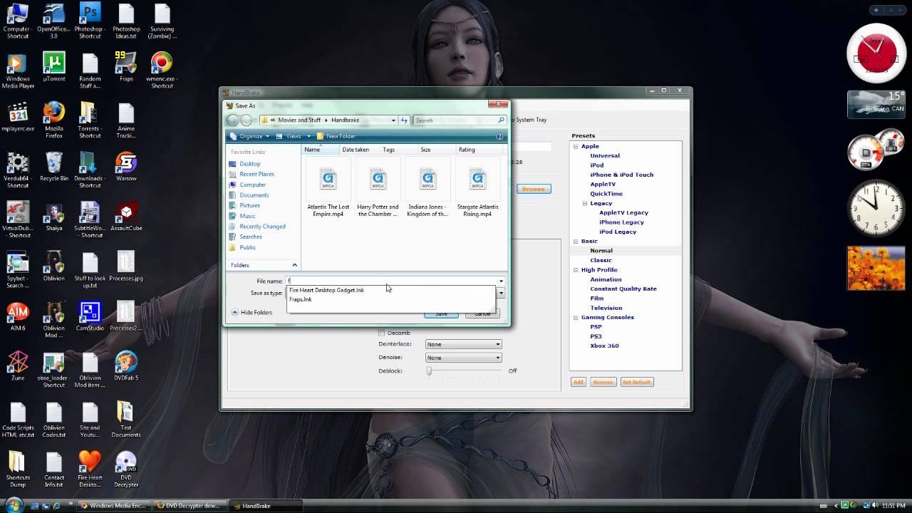 Tutorial - Using DVD Decrypter and Handbrake to make Video Files HD