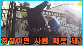 현재 논란중인 LA경찰 노숙자 폭행 사건 - 샌드백 처…