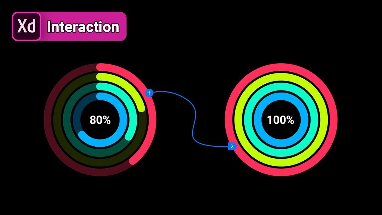 [무작정 따라하기]그래프 퍼센트 카운트 인터랙션 [어도비 XD]
