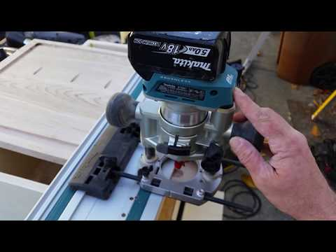 Makita XTR01Z Brushless Cordless Router With Plunge Base And Guide Rail Adapter