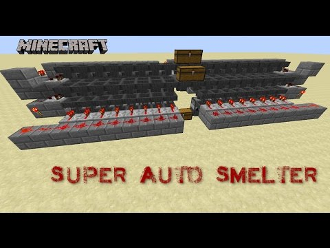 Minecraft Auto Smelter - Tutorial - Redstone Builds - PC•720p•60fps