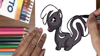 Dạy bé tập vẽ con chồn