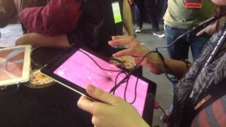 People playing Luxuria Superbia at IndieCade 2013