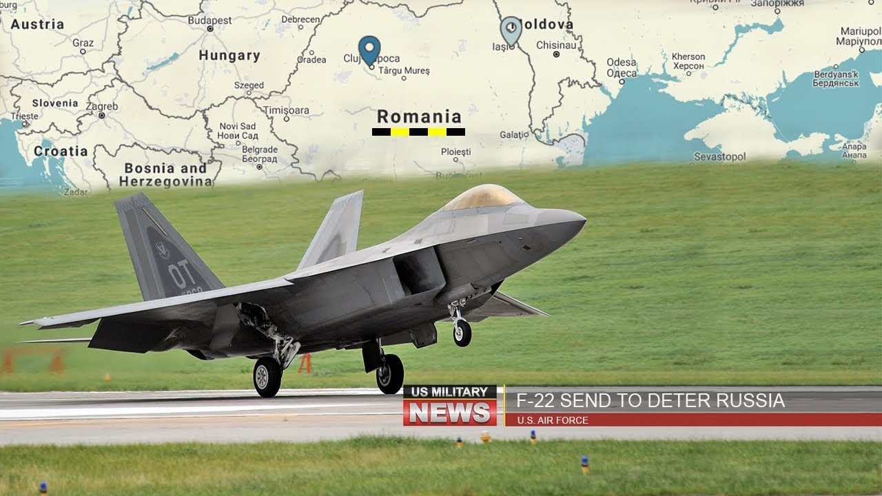 US sends world's most advanced warplanes F-22 Raptor to Romania and UK to deter Russia
