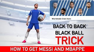 BLACK BALL TRICK IN WORLDWIDE CLUB STARS BOX DRAW | PES 2020 MOBILE