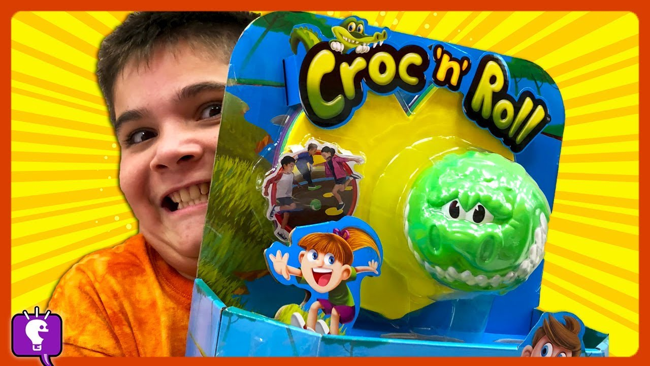 Croc N Roll Family Game Time! Lily Pad Jumping by HobbyKidsTV