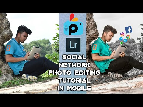 Social network photo editing tutorial   color correction lightroom and social icon add by picsart    thumbnail
