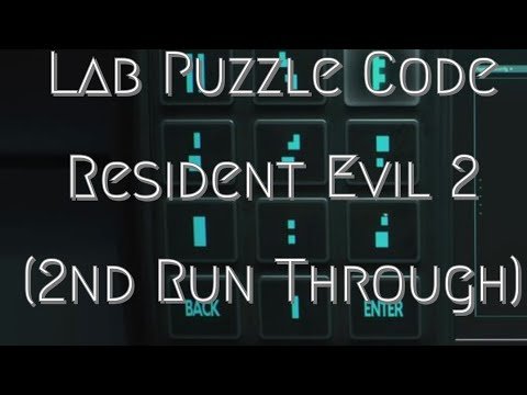 resident evil 2 lab puzzle