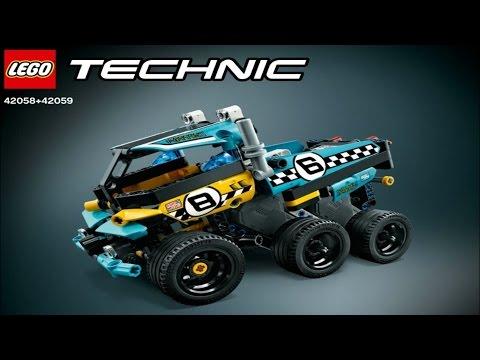 2017 Lego Technic Power Racer Instruction 42058+42059