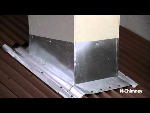 Ondura N Chimney Installation Youtube
