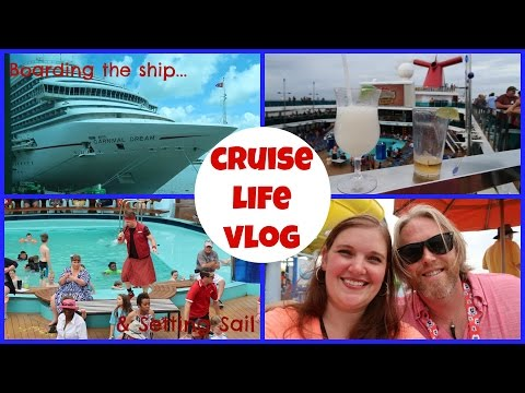 CRUISE LIFE VLOG: Carnival Dream: Boarding the Ship & Setting Sail - Day 1: Part 2