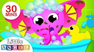 Bath Time Songs, Brush Your Teeth | Healthy Habits With Itsy Bitsy | Nursery Rhymes by Little Angel