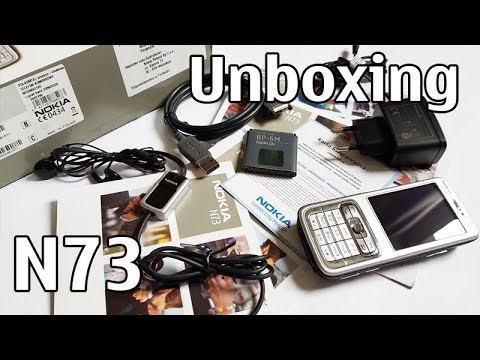 Nokia N73 Unboxing 4K with all original accessories Nseries RM-133 review