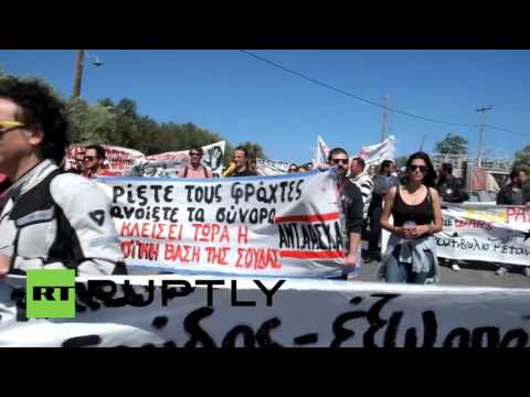 Greece: Hundreds protest NATO, EU at Souda Bay military base
