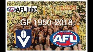 VFL/AFL Grand Finals 1950-2018 (Final Siren)
