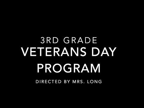 Cassville Intermediate School Third Grade Veterans Day Program