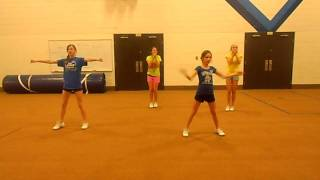 EBMS Cheerleading- Where Dem Girls At?- routene.