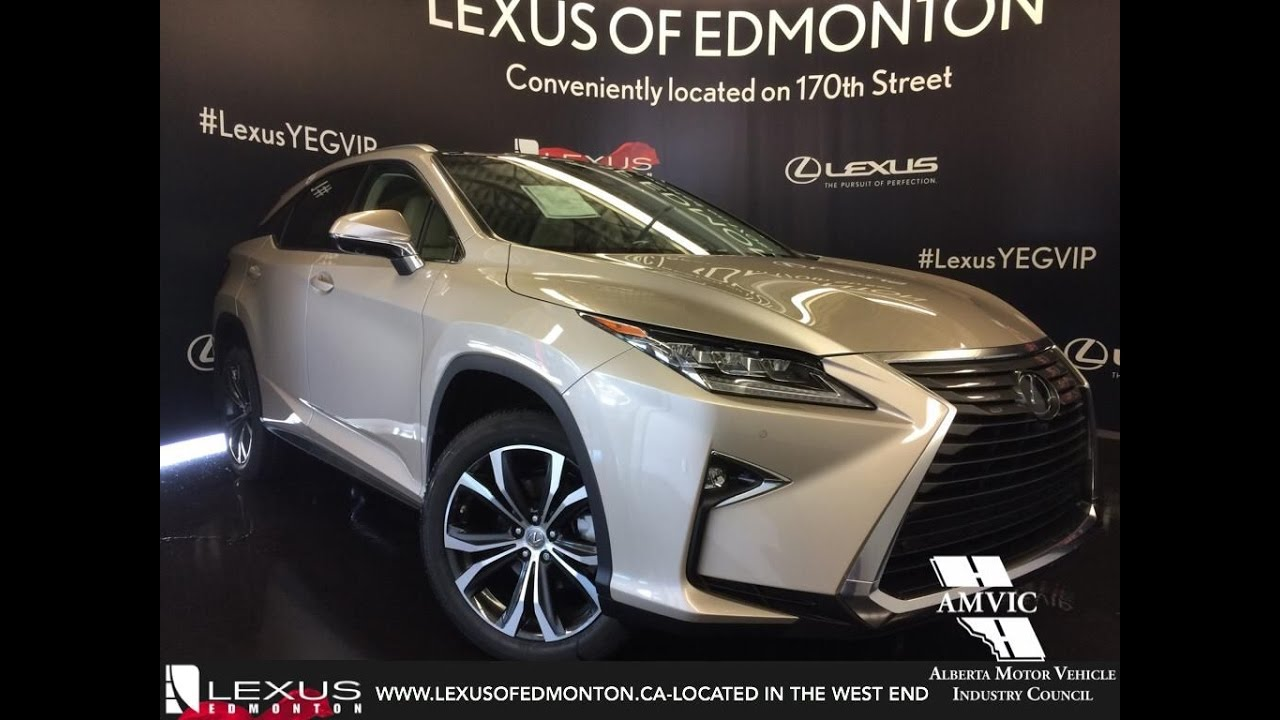 New 2017 Tan On Parchment Lexus Rx 350 Awd Executive Package Review Alberta You