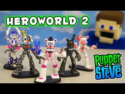 FNAF HeroWorld Series 2 Sister Location Five Nights at Freddys Unboxing