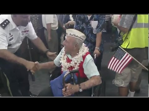 A Hero's Welcome For Pearl Harbor Vets & Survivors -75th Anniversary Honor Flight