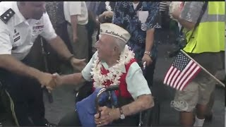 A Heros Welcome For Pearl Harbor Vets & Survivors -75th Anniversary Honor Flight