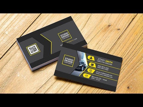 Simple Professional Business Card (Color Yellow black) Photoshop Tutorial thumbnail