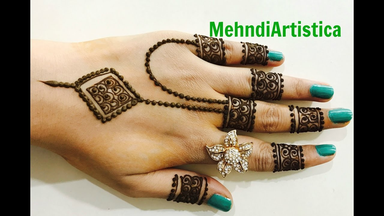 Diy Jewelry Designer Finger Mehndi Designs Easy Simple Trendy Latest