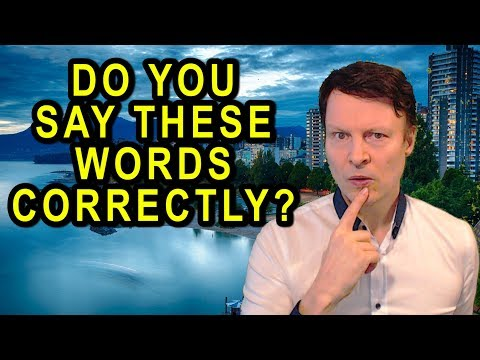 Do you say these words correctly?   Learn English with Steve Ford