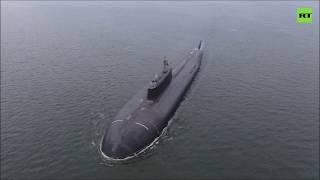 Атомная подлодка «Омск» уничтожила корабль условного противника в Тихом океане