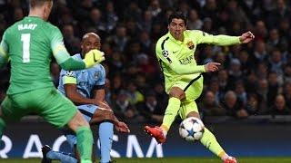 Barcelona vs Manchester City 2015 : 2-1 , Luis Suarez scores twice in Champions League