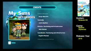 End Credits: MySims SkyHeroes