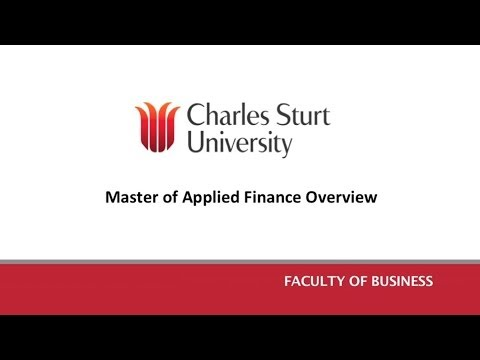 Master of Applied Finance Overview
