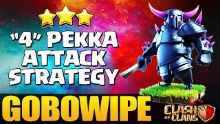 New Elite 2 Golem 4 Pekka Gowipe/GoBoWiPe Attack Strategy low heroes - Destroy Max Th9 coc