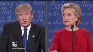 Clinton and Trump debate Russian hacking concerns