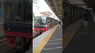 [名鉄] 3164F+3314F 急行一宮  知立発車  と同時に3150系+3300系急行到着