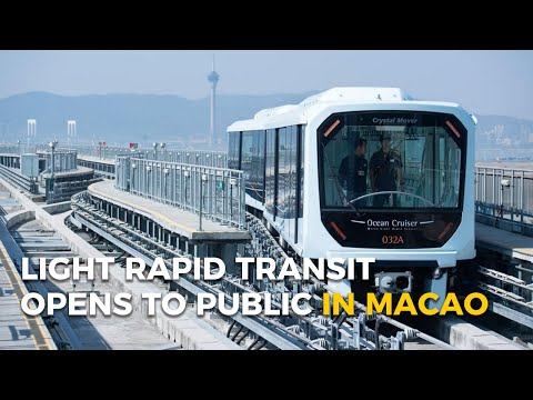 Light Rapid Transit opens to public in Macao