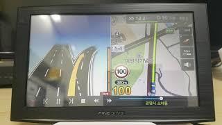 파인드라이브 IQ 3D 7000 네비게이션 2D맵 모의…