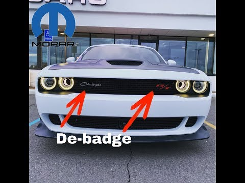 Dodge Challenger how too REMOVE the front emblems (EASY?)