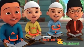 Upin & ipin mengaji Alif ba ta dan bersholawat | fantasy anak