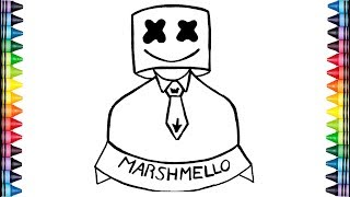 Como dibujar a MARSHMELLO facil y rapido? How to draw marshmello