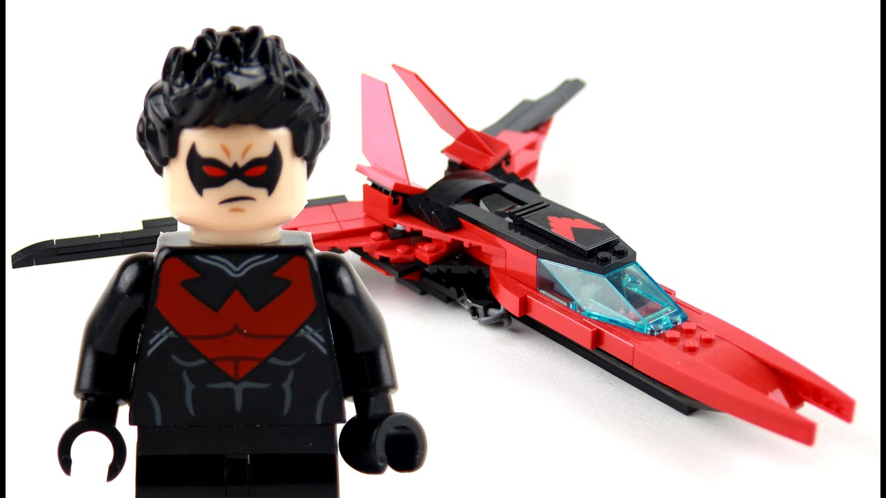 Custom Lego Nightwing Fighter Jet Review - YouTube