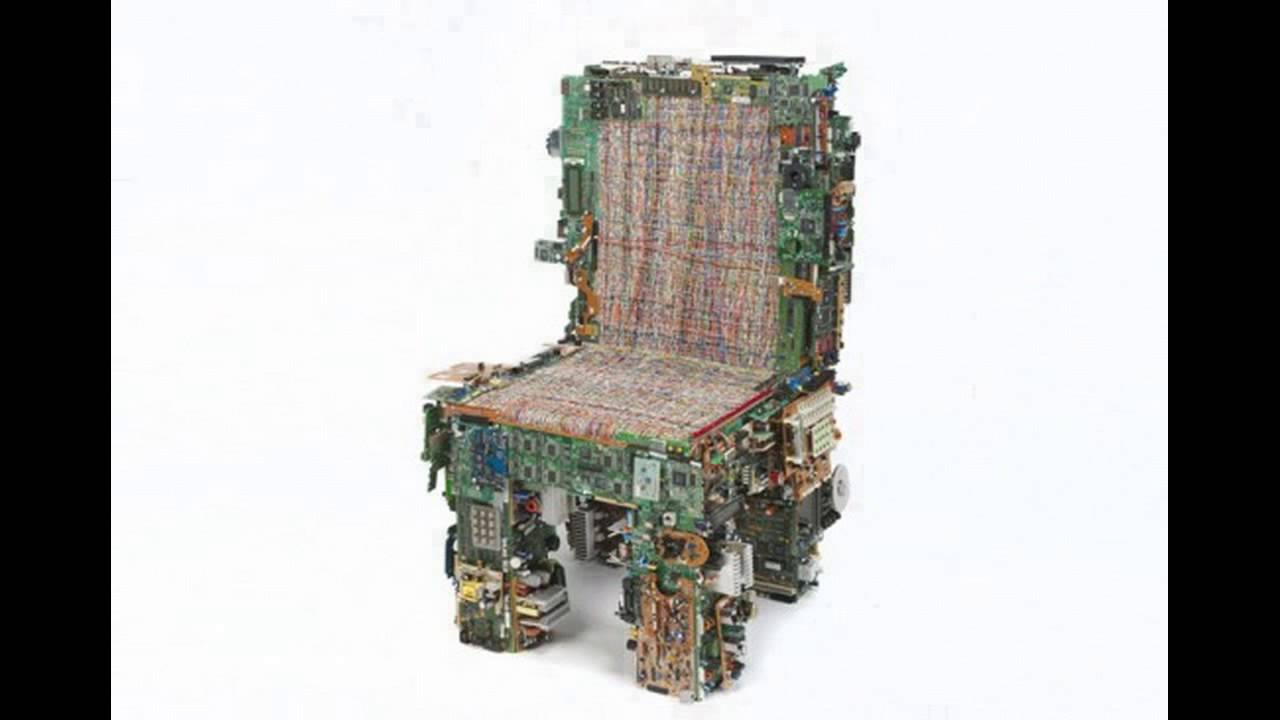 26 chairs made from recycled materials youtube for What we make from waste material