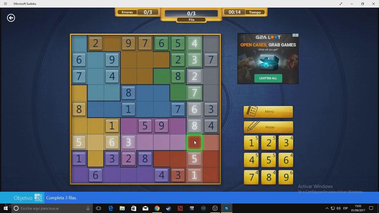 microsoft sudoku irregular medium september 1 2017 youtube