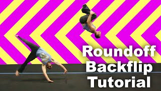 How to Parkour: Roundoff Backflip Tutorial