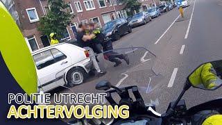 Achtervolging door politie Utrecht in de stad  Politievlogger JanWillem