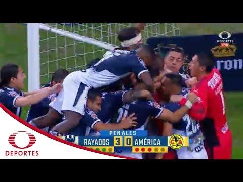 Serie de penales   Monterrey  (3) 0 - 0 (0) América   Semifinal Copa Corona MX - Televisa Deportes
