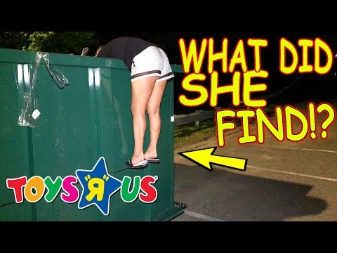 """TOYS """"R"""" US LEFT US SOMETHING UNBELIEVABLE IN THEIR DUMPSTER!"""