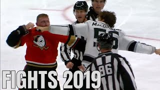 Best NHL Fights Of The First Half: 2019-2020 Season